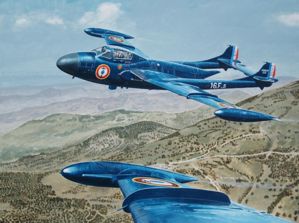 Aquilon au dessus de l'Algerie - 40x50